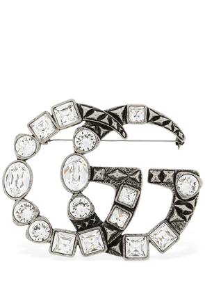 Gg Marmont Crystal Brooch