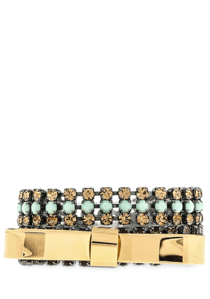 Double Bow Bracelet With Crystals