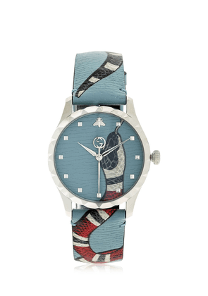 G-timeless Snake Pattern Leather Watch