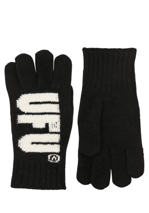 Logo Intarsia Wool Gloves