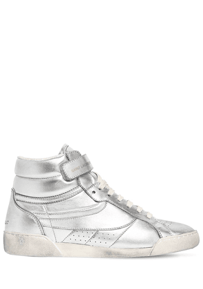 20mm Lenny Metallic Leather Sneakers