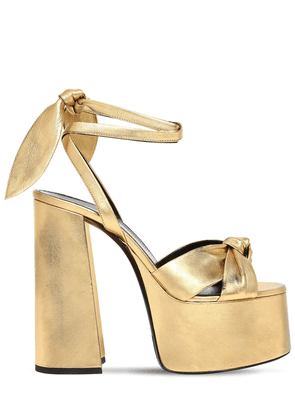 85mm Paige Metallic Leather Sandals