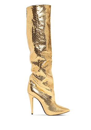 110mm Abbey Metallic Python Tall Boots