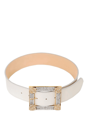 25mm Crystal Nappa Leather Belt