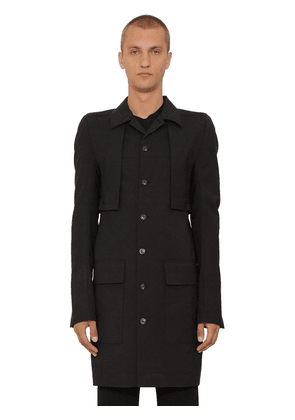 Canvas & Wool Trench Coat