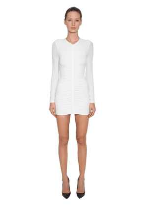 Crepe Jersey Dress W/ Ruched Details