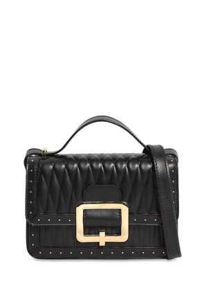 Janelle Quilted Leather Bag W/microstuds