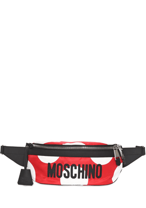 Polka Dot Printed Logo Belt Bag