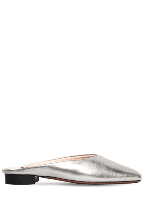 10mm Baba Metallic Leather Mules