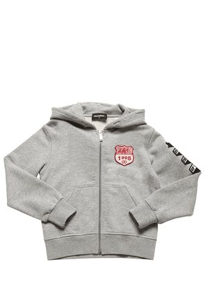 Zip-up Sweatshirt Hoodie W/ Patches