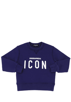 Icon Print Cotton Sweatshirt
