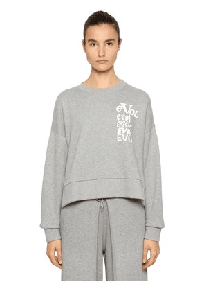 Evol Printed Cropped Sweatshirt