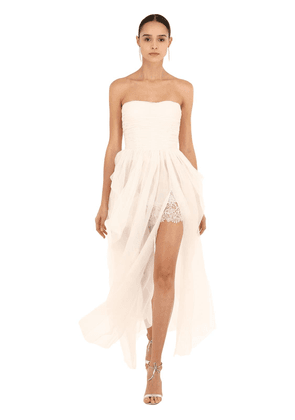 Strapless Silk Organza Dress