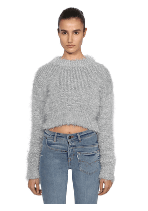 Tinsel Cropped Knit Sweater