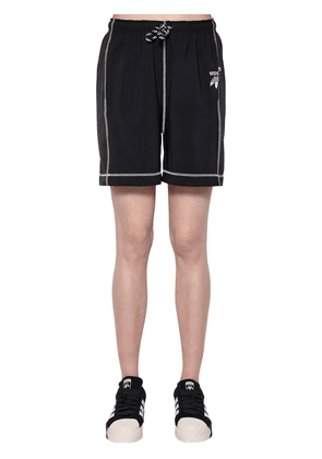 Tech Satin & Cotton Shorts