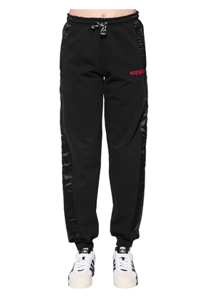 Cotton & Satin Sweatpants