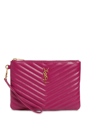 Monogram Quilted Leather Pouch