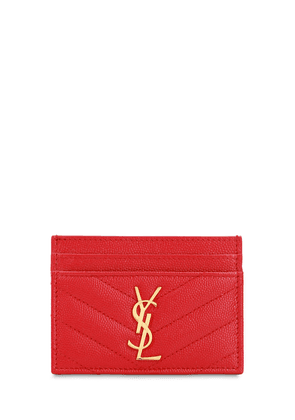 Monogram Grained Leather Card Holder