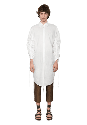 Extra Long Cotton Poplin Shirt