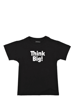 Think Big Printed Cotton Jersey T-shirt