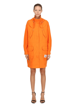 Hooded Cotton Twill Parka