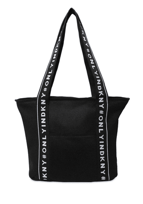 Logo Jacquard Mesh Shoulder Bag