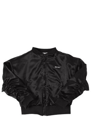 Logo Satin Bomber Jacket