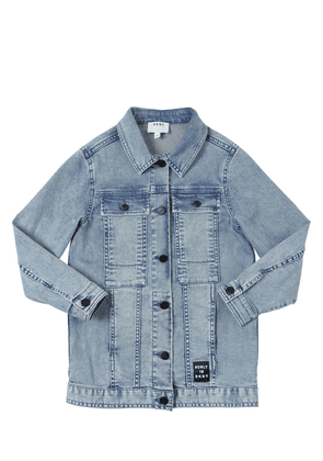 Long Stretch Cotton Denim Jacket