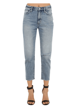 The Vintage Cropped Slim Denim Jeans
