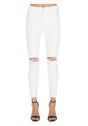 High Waist Stiletto Distressed Jeans