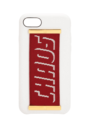 Logo Strap Leather Iphone 7/8 Cover