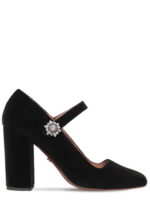 105mm Velvet Mary Jane Pumps