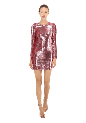 Sequined Stretch Mini Dress