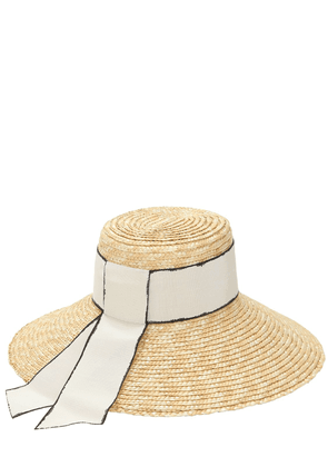 Annabelle Straw Hat W/ Grosgrain Band