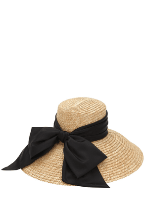 Straw Hat W/ Satin Bow