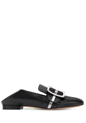 10mm Janelle Leather & Metallic Loafers