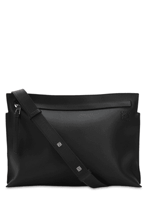 T Leather Messenger Bag