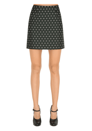 Floral Jacquard Mini Skirt