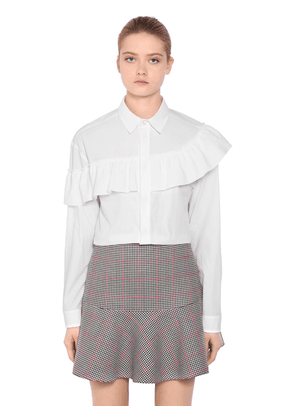 Ruffled Cotton Poplin Shirt