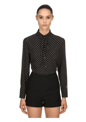 Polka Dots Silk Crepe De Chine Shirt