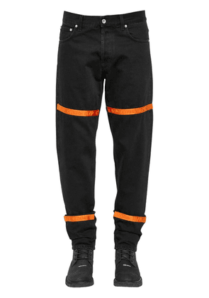 Heron Preston Tape Cotton Denim Jeans