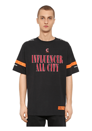 Influencer Printed Cotton Jersey T-shirt