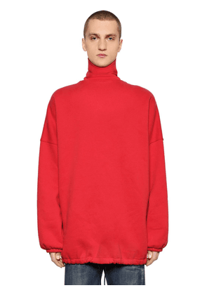 Oversize Cotton Turtleneck Sweater
