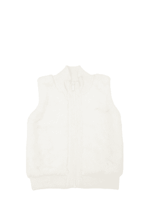 Viscose & Faux Fur Knit Vest