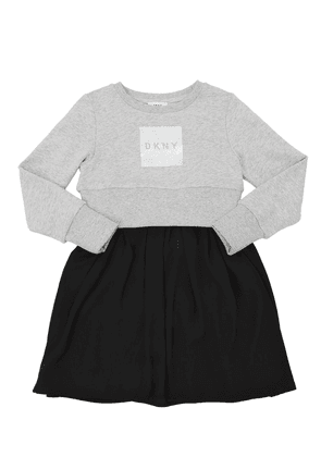 Cotton Sweatshirt & Georgette Dress