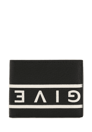 Reverse Logo Grained Leather Wallet