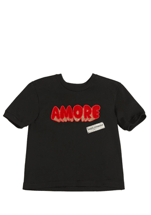 Amore Patch Cotton Jersey T-shirt