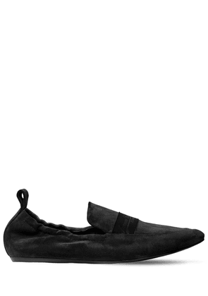 10mm Logo Band Suede Loafers