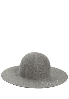 Wool Felt Wide Brim Hat
