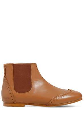 Brogue Nappa Leather Ankle Boot